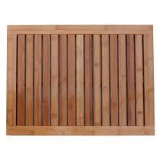 Floor And Decor Logo Amazon Com Oceanstar Fm1163 Bamboo Floor And Shower Mat Home