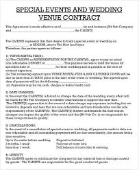 44 contract agreement formatcatering contract agreement event
