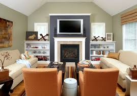 Houzz Family Room Family Room Traditional With Black Accent Wall - Houzz family room