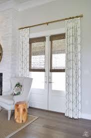 door window blinds sliding glass doors with brown faux wood