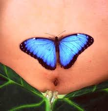 small butterfly tattoos on belly button small butterfly tattoos