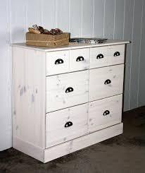 Schlafzimmer Kommode Vintage Kommode 92x79x39cm 4 Große 2 Kleine Schubladen Kiefer Massiv
