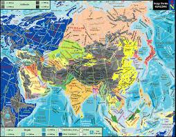 map asie world maps