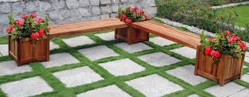 Deck Planters And Benches - bench amp planter hardware kits azek deck planter box bench