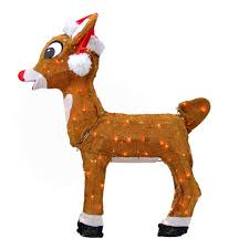 northlight rudolph red nosed reindeer pre lit santa hat