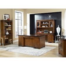 Double Pedestal Desk With Hutch by Kathy Ireland Home By Martin Imke680 Kensington Double Pedestal