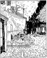 van gogh le cafe de nuit coloring pages printable
