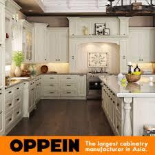 cuisine en forme de l blanc de forme de l armoire de cuisine en bois avec island op15 s05