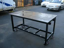 diy portable welding table complete diy welding table and cart ideas 50 designs within metal