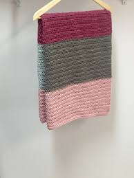 crochet pattern modern color block blanket or afghan little