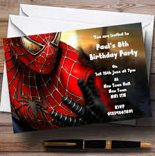 spiderman personalised children u0027s party invitations the card zoo