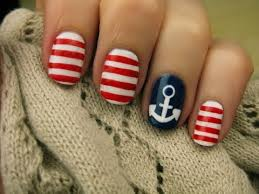 nautical nail art youtube