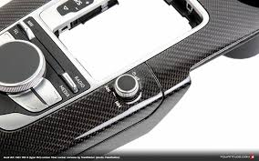 audi center carbon fiber console for mqb audi a3 s3 rs 3 from