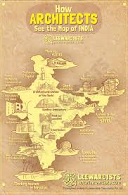 India Language Map by How Architects See The Map Of India