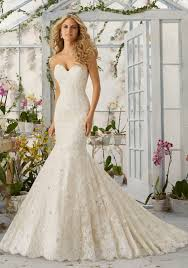 wedding dress with allover lace mermaid wedding dress with pearls style 2820 morilee