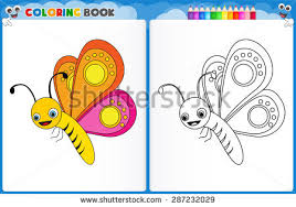 coloring butterfly colorful sample printable stock vector