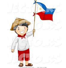 Waving Flag Artist Happy Filipino Independence Day Boy Waving Flag Philippines