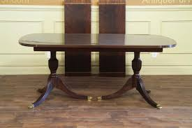 antique mahogany pedestal table new american made antique style double pedestal dining table
