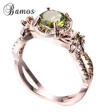 vintage rose rings images Bamos vintage rose gold filled august birthstone rings for women jpg