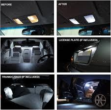 2015 ford explorer interior lights free shipping 6pcs lot car styling xenon white premium package kit