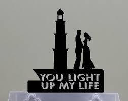 lighthouse cake topper lighthouse topper etsy