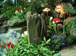 beautiful gardens with waterfalls and flowers beautiful flowers