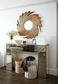 mirrored buffet console credenza gold waterfall table starburst