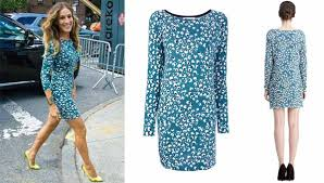 nyfw look of the day sarah jessica parker in dvf pretty in peplum