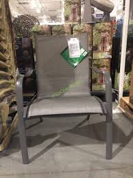 Patio Sling Chair Kirkland Signature Commercial Sling Chair Costcochaser Kirkland