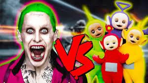Teletubbie Halloween Costume Joker Teletubbies Apocalypse Epic Battle Injustice 2