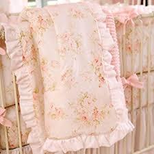 amazon com carousel designs shabby chenille 3 piece crib bedding