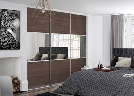 Interior Design Sliding Wardrobe Doors by Premium Midi 3 Panel Tortona Chestnut Mirror Doors With Satin