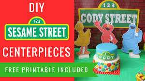 diy sesame street party decorations centerpieces elmo big bird