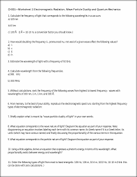 ws1f10 with answers ch301 u2014worksheet 1 electromagnetic radiation
