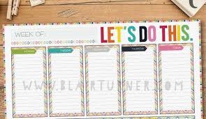 Weekly Desk Pad Weekly Calendar Desk Pad Calendar