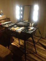 professional makeup stand professional rolling makeup artist cosmetic with lights