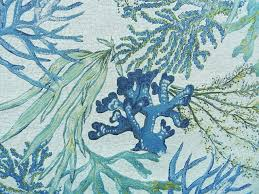 Palm Tree Upholstery Fabric Coral Reef Oceanside Beach Style Upholstery Fabric By 1502