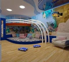 chambre bleu enfant modèle deco chambre garcon bleu