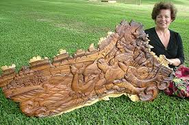 wood sculptor richard m howell oceanic wood carving artist and