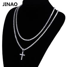 necklace with black stones images Jinao hip hop cross pendant necklace micro pave cz stones all iced jpg