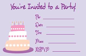 birthday party invitations card gallery invitation design ideas