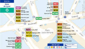 Lyon France Map Noctilien Bus Maps With Stops For Paris Night Buses