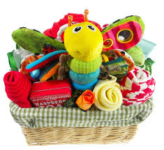 Baby Gift Baskets Deluxe Bright Baby Gift Flower Basket Unisex Baby Gift Baskets