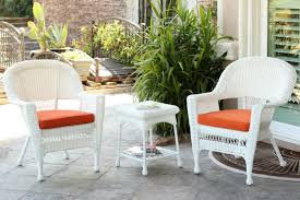 Wicker Patio Table Set Modern Concept White Plastic Patio Furniture With Piece White