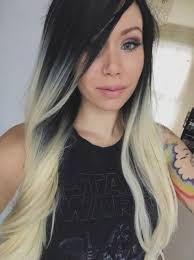 how to achieve dark roots hair style hairstyle black blonde roots ombre dip dye gradient premium