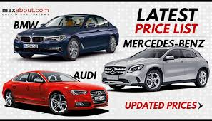 mercedes bmw or audi price list mercedes bmw audi maxabout