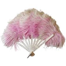feather fan antique ostrich feather fan lavender folding sold