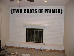 Do You Paint Ceiling Or Walls First by According To Jax Before After Painting A Brick Fireplace