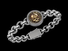 bracelet skull silver images 3d print model skull bracelet cgtrader jpg