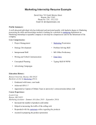intern resume sample resume for your job application